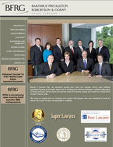 TGI oversaw the design of this client's new website, wrote all the content, produced the attorney bio and client testimonial videos, and directed the photography. (www.bflawfirm.com)