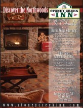 This four-color ad captures the rustic elegance of the Stoney Creek Inn in Columbia, Mo.
